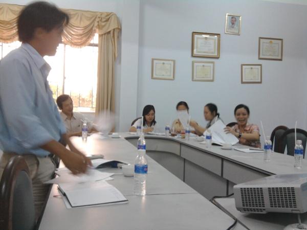 Tập huấn ĐGNB HTQLCL theo TCVN 9001:2008 tại CC DS KHHGD tỉnh Vĩnh Long