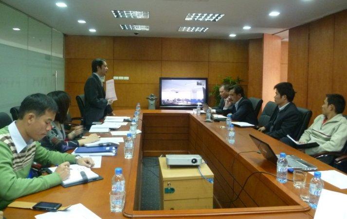 Họp triển khai HTQLMT ISO 14000 tại Công ty CP DVKT Điện lực Dầu khí Việt Nam