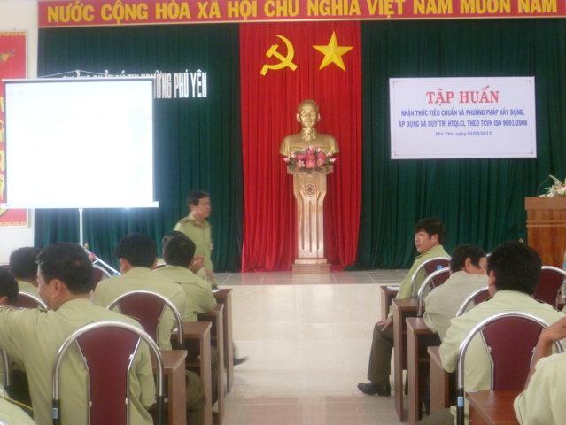 Tập huấn nhận thức HTQLCL theo TCVN ISO 9001:2008 tại Chi cục QLTT Phú Yên