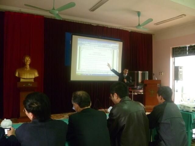 Tập huấn nhận thức HTQLMT TCVN ISO 14001:2010 tại Cty CP chế tạo TBĐ Đông Anh