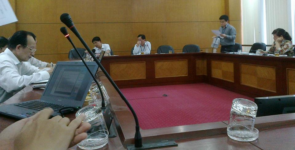 Họp triển khai KH mở rộng HTQLCL TCVN ISO 9001:2008 tại UBND quận Long Biên