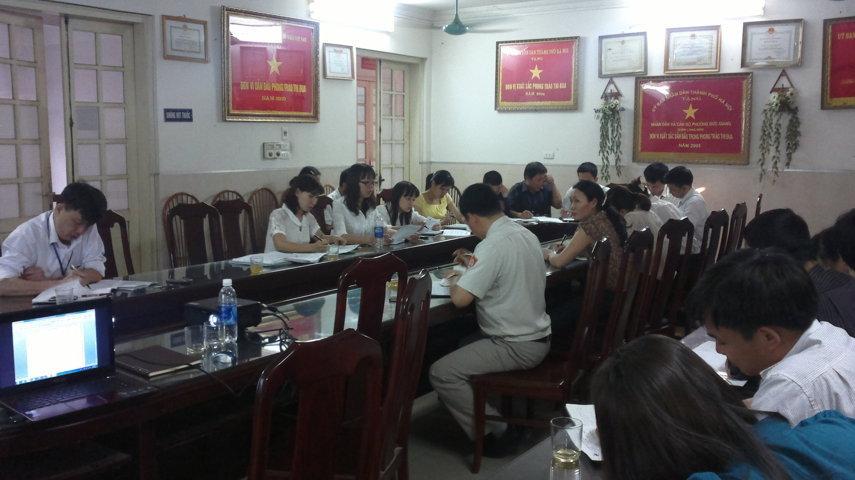 Tập huấn nhận thức HTQLCL ISO 9001:2008 tại UBND phường Đức Giang