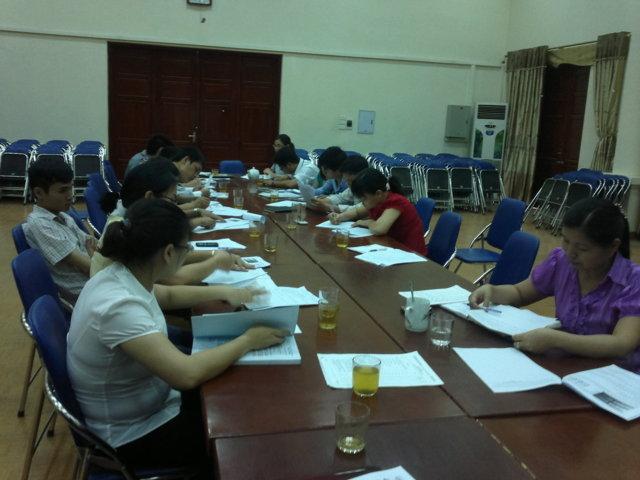 Tập huấn ĐGNB HTQLCL ISO 9001:2008 tại UBND phường Hoàng Văn Thụ