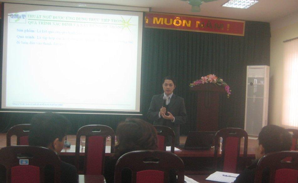 Tập huấn nhận thức  HTQLCL theo TCVN ISO 9001:2008 tại UBND phường  Mai Động