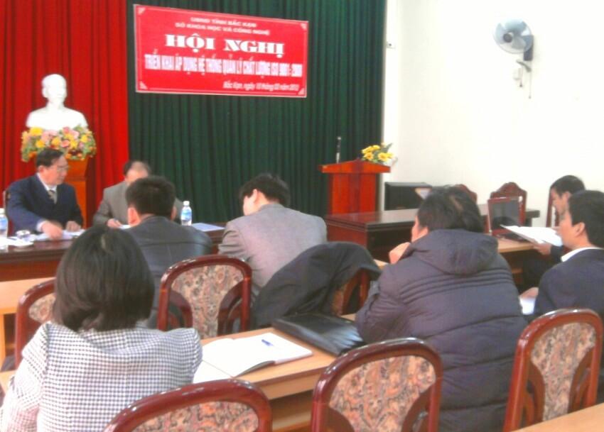 Hội nghị triển khai áp dụng HTQLCL ISO 9001:2008 tại UBND tỉnh Bắc Kạn