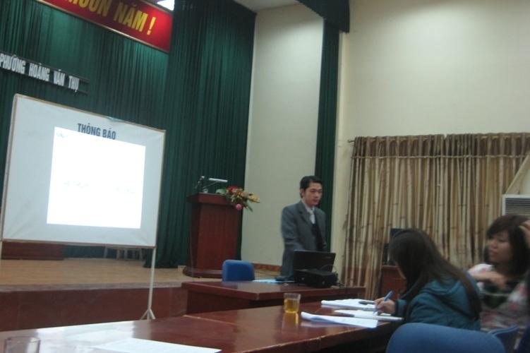 Tập huấn nhận thức HTQLCL theo TCVN ISO 9001:2008 tại UBND P.Hoàng Văn Thụ