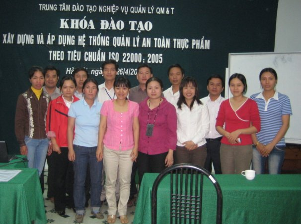 Đào tạo xây dựng và áp dụng HTQL ATTP ISO 22000:2005 ngày 25-26/4/2008