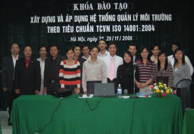 Đào tạo xây dựng và áp dụng HTQLMT ISO 14001:2004  ngày 28 - 29/11/2008