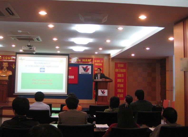 Đào tạo nhận thức HTQLCL ISO 9001:2008 tại Tập đoàn CN tàu thủy Việt Nam