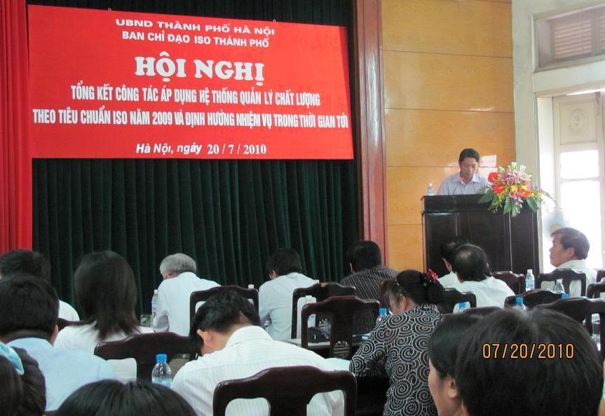 Hội nghị tổng kết công tác áp dụng ISO 9001 cho khối HCNN tại Sở KHCN Hà Nội