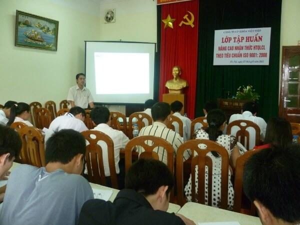 Khóa đào tạo nâng cao kiến thức ISO 9001:2008 tại Công ty CP khóa Việt Tiệp