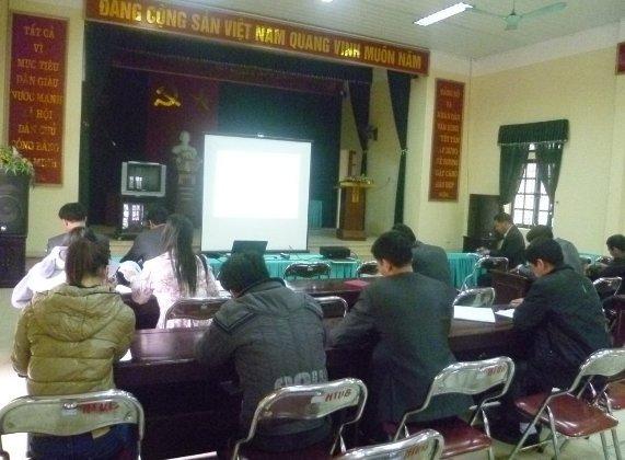Tập huấn nhận thức HTQLCL TCVN ISO 9001:2008 tại UBND xã Văn Bình, Thường Tín, Hà Nội