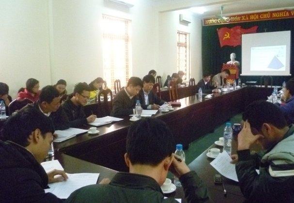 Tập huấn hướng dẫn ban hành áp dụng tại VP HĐND-UBND và phòng TNMT thị xã Nghĩa Lộ  tỉnh Yên Bái
