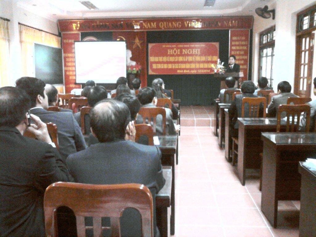 Hội nghị triển khai xây dựng và áp dụng hệ thống quản lý chất lượng theo TCVN ISO 9001:2008 tại Ninh Bình năm 2014