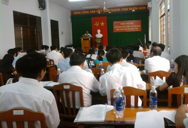 Hội nghị triển khai Quyết định 1430/QĐ-UBND ngày 28/8/2014 của UBND tỉnh Trà Vinh