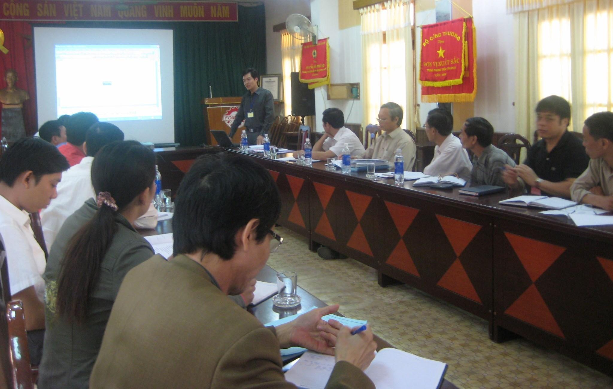 Đào tạo nhận thức  HTQLMT ISO 14001:2004 tại Cty CP Cơ khí Phổ Yên