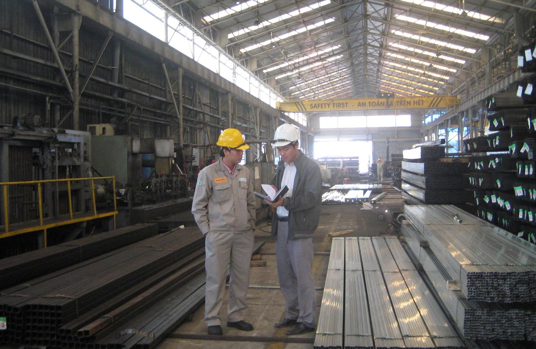 KS đánh giá thực trạng môi trường tại Cty TNHH Ống thép Việt Nam